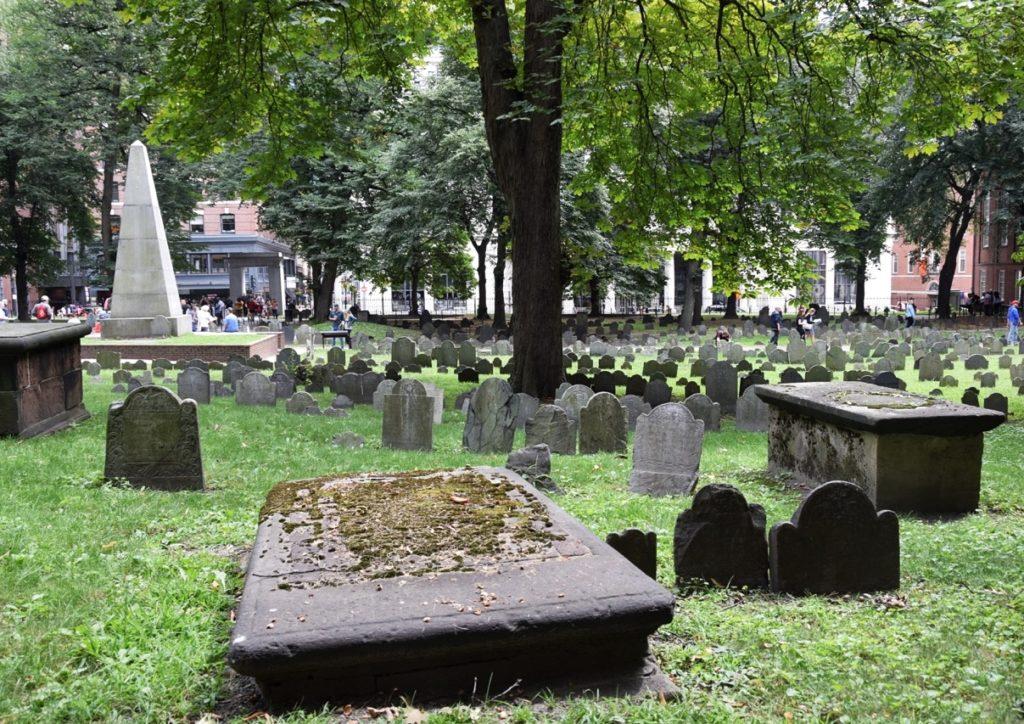 tombe al cimitero di old granary
