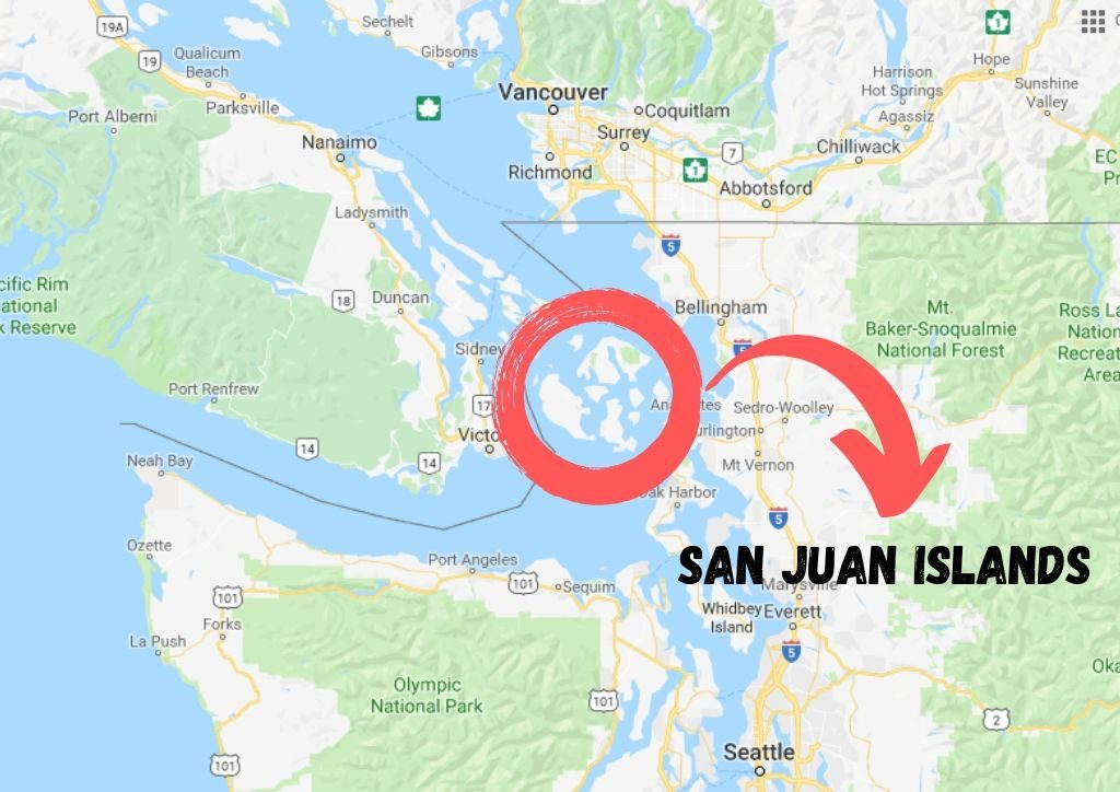 mappa isole san juan