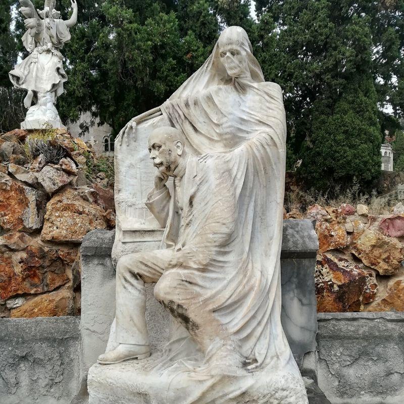 statua della morte cimitero di Montjuic Barcellona