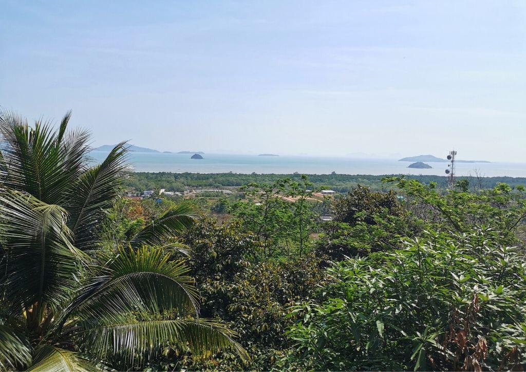 vista di koh lanta dall'alto della foresta