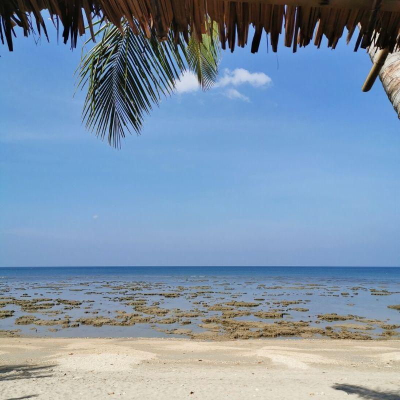 Klong Khong con la bassa marea