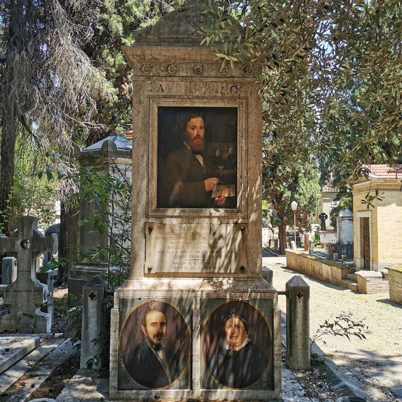 tomba di filippo severati con autoritratto