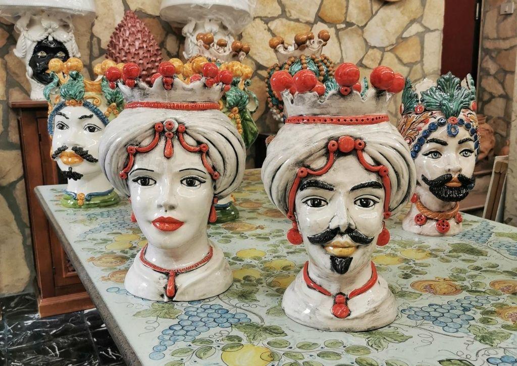 ceramiche teste di moro tradizionali della sicilia
