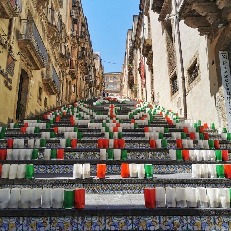 scalinata di santa maria del monte di caltagirone