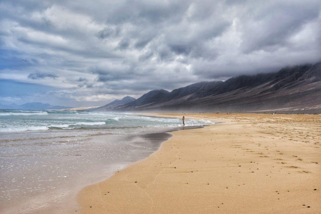 spiaggia di el cofete in inverno