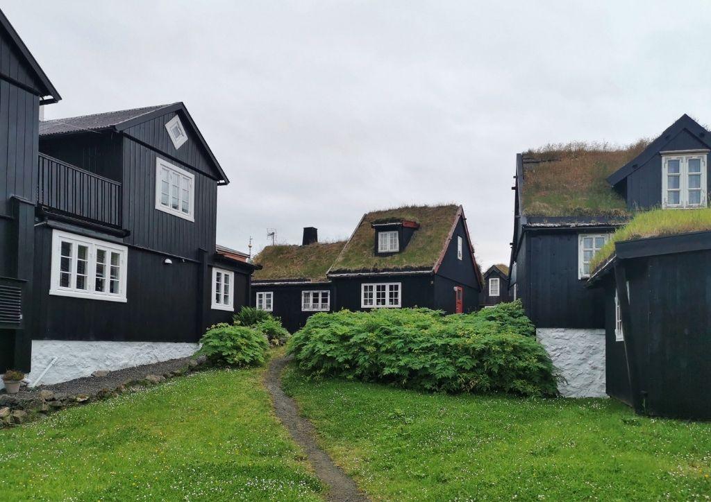 abitazioni tradizionali faroesi a Torshavn